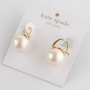 NEW! Kate Spade Shine on pearl drop earrings